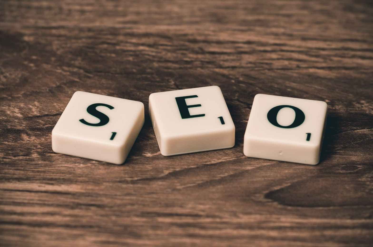 quick results with seo: scrabble letters spelling out seo